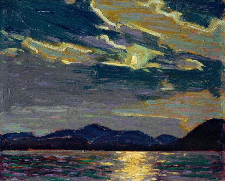 dappledwithshadow: Hot Summer Moonlight, Tom Thomson 1915