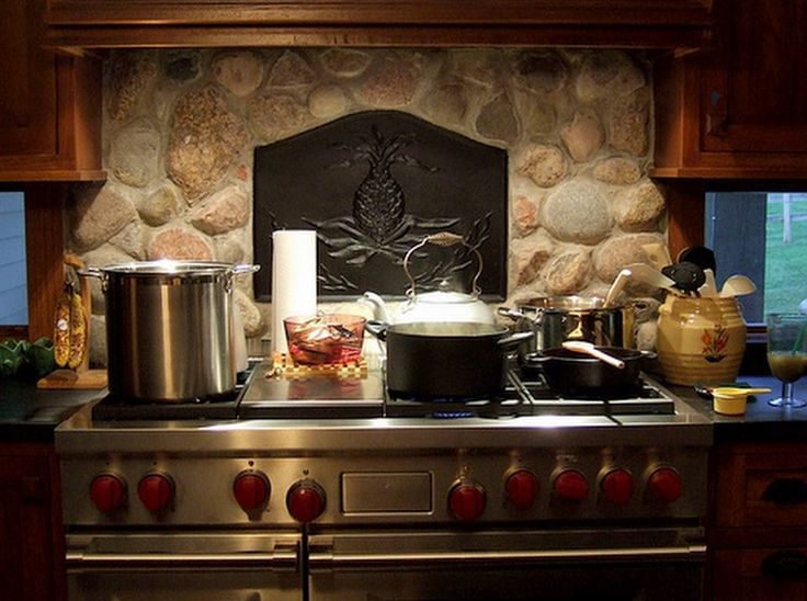 Fireback backsplash firebacks for stove backsplash area for Log cabin kitchen backsplash ideas