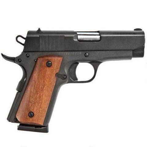 "Rock Island 1911 Compact Semi Auto Pistol .45 ACP 3.5"" Barrel 7 Rounds Parkerized Steel Frame Fixed Sights 54183 - 51416 - 4806015514169"