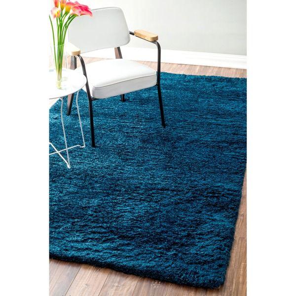nuloom handmade soft plush shag rug 7u00276 x