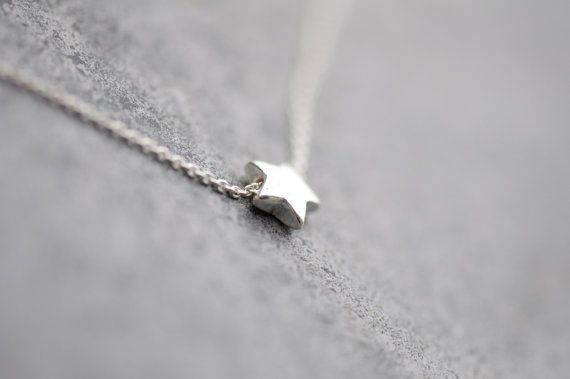 Sterling Silver Star Necklace Mini