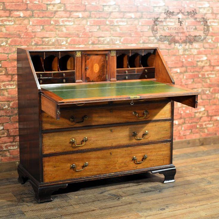 George III Mahogany Bureau, c.1770 [£1,850.00] - 67 Best Antique Desks And Bureaux Images On Pinterest