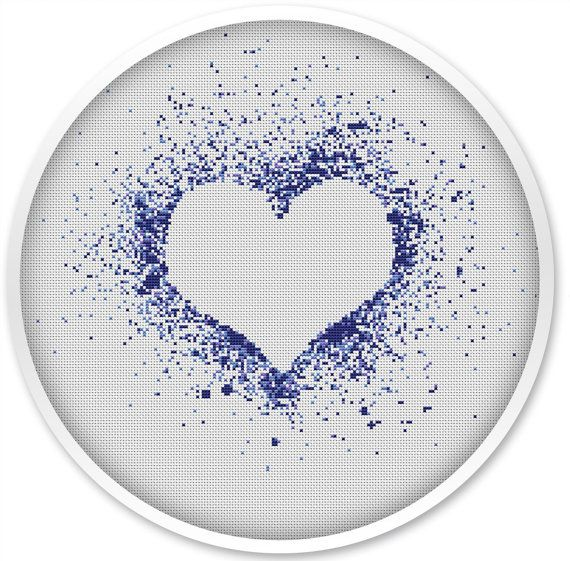 IINSTANT DOWNLOAD, Free shipping, Cross Stitch PDF, Cross stitch pattern love, Love, Heart.#048