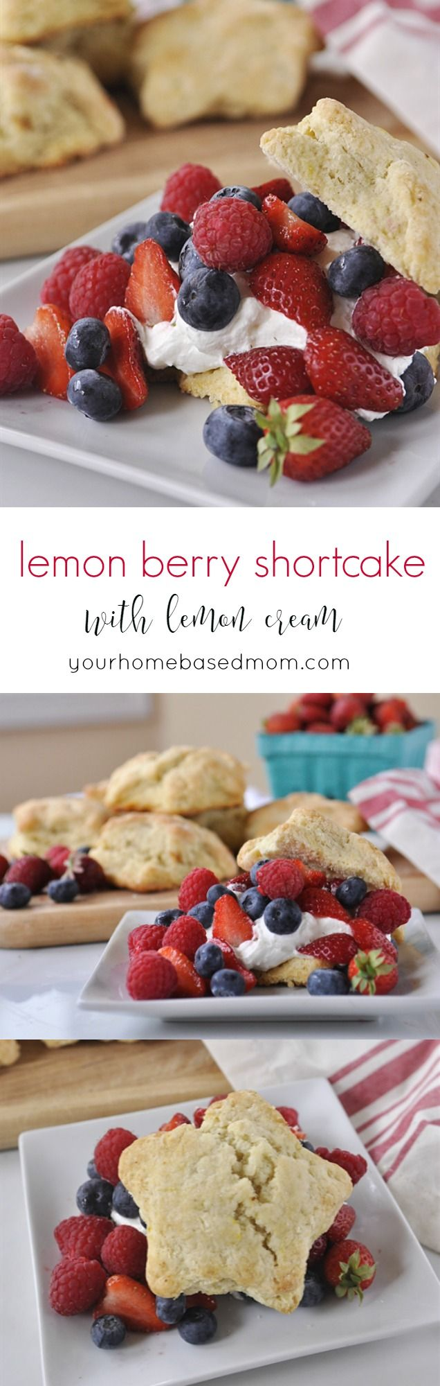 Lemon Berry Shortcakes with Lemon Cream - perfect for your summer BBQ's and 4th of July