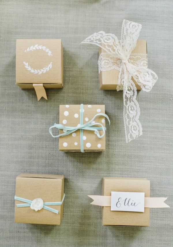 5 Different Favor Boxes You Can Make Yourself #DIY #Favors