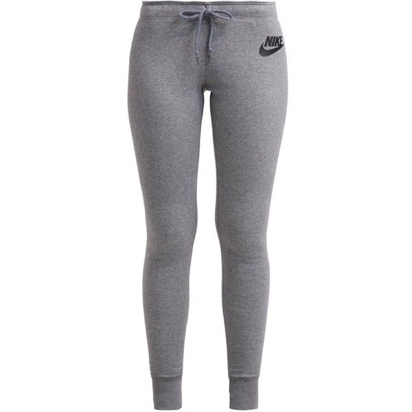 Nike Sportswear RALLY Tracksuit bottoms carbon/cool/black (445 NOK) ❤ liked on Polyvore