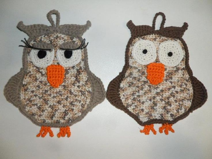 Free pattern crochet nice Owl photolder - coppia presine gufi (Mr. Gufo e Miss…