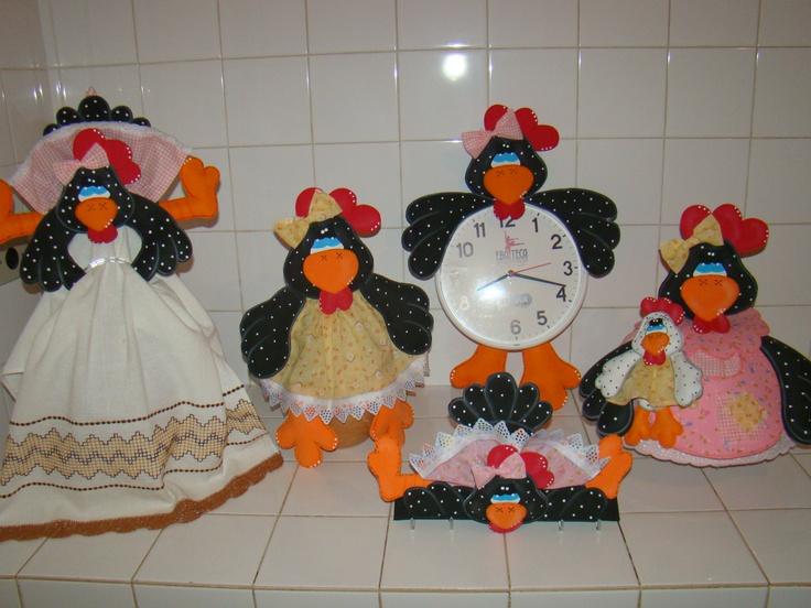 Enfeites de CozinhaGalinha DAngola  galinhas  Pinterest