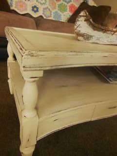 Chalk paint coffee table ASCP old ochre.