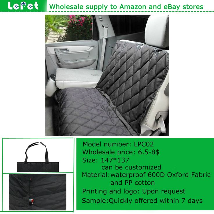 Factory Wholesale Soft Quilted Waterproof Oxford Protective Dog Hammock Car Seat Cover