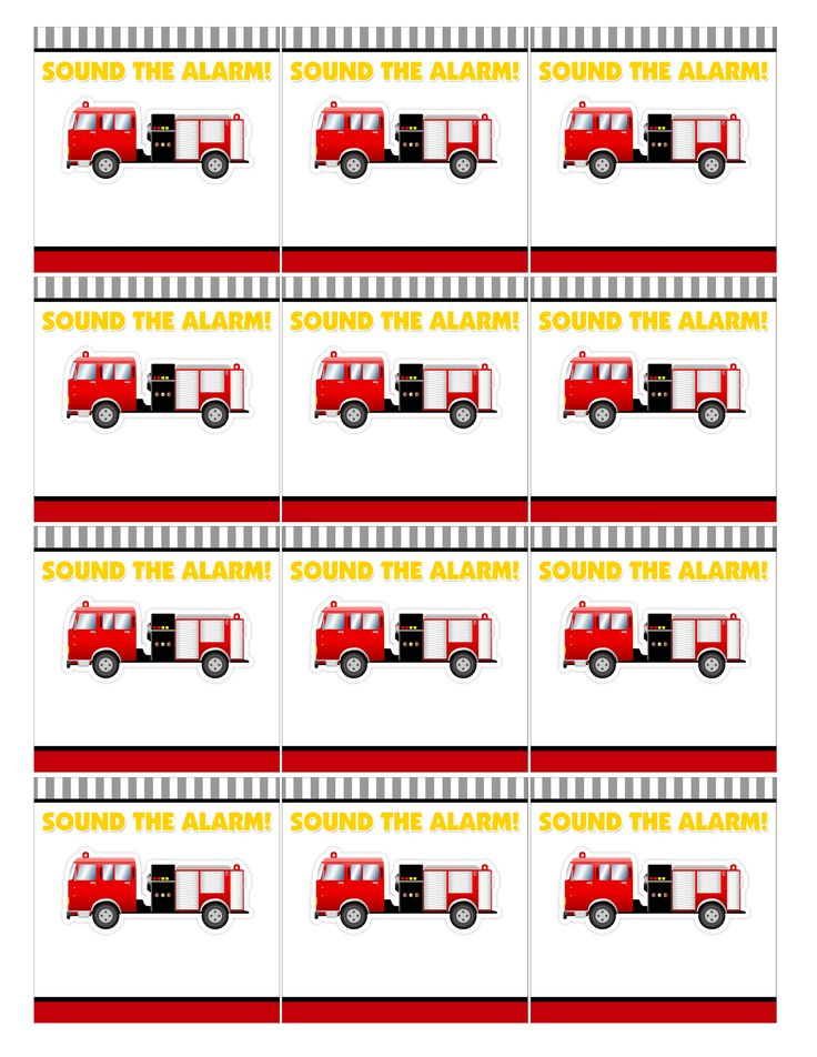 Free fireman party printables