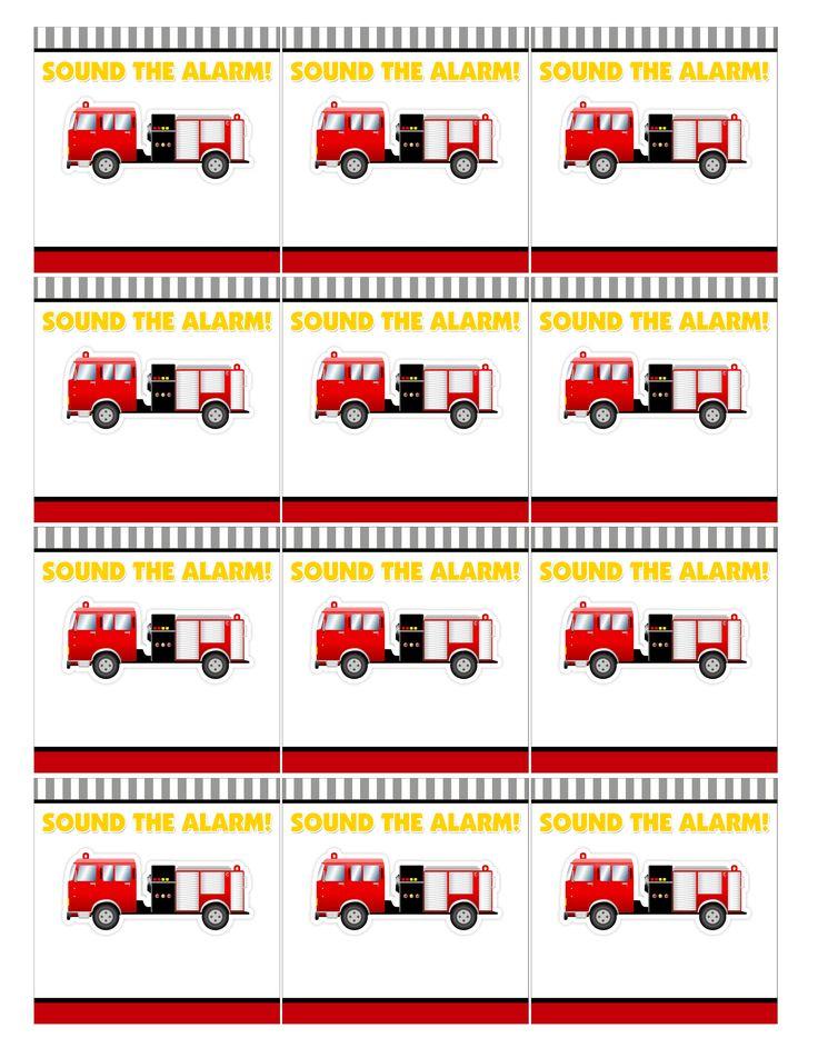 Firetruck free printables
