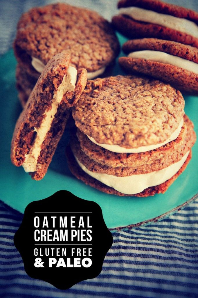 Gluten-Free and Paleo Oatmeal Cream Pies (dairy-, egg-, and grain-free)