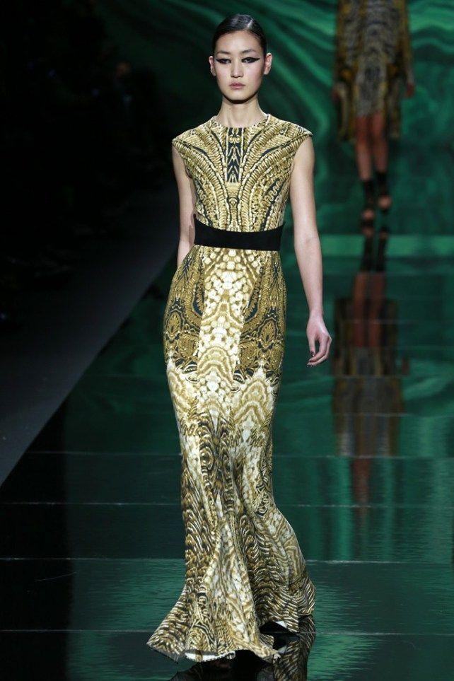 New York FW Monique Lhuillier Fall 2013  couture fashion  www.finditforweddings.com