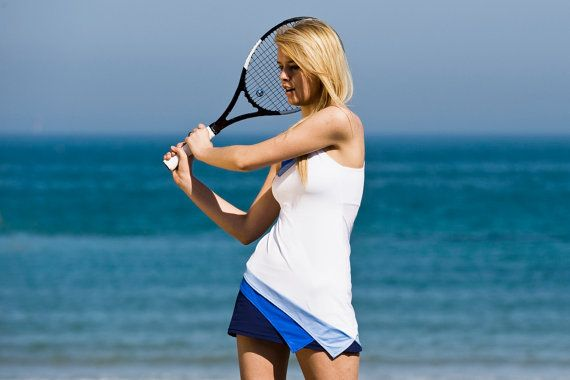 women's tennis dress soft and comfortable, breathable fabric, asymmetric line, in 4 colors with halter.