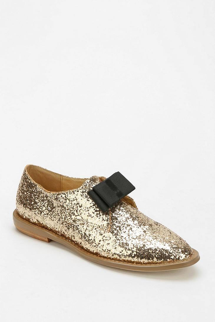 F-Troupe Glitter Bow Oxford shoes... like!