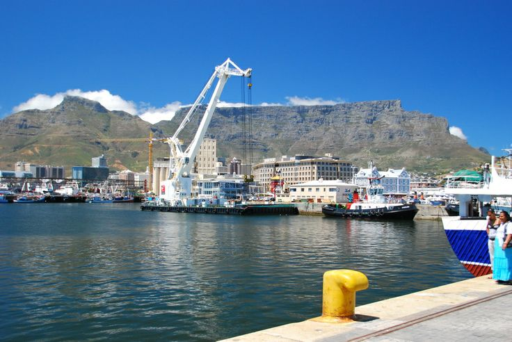 A scene from the V&A Waterfront, Cape Town.