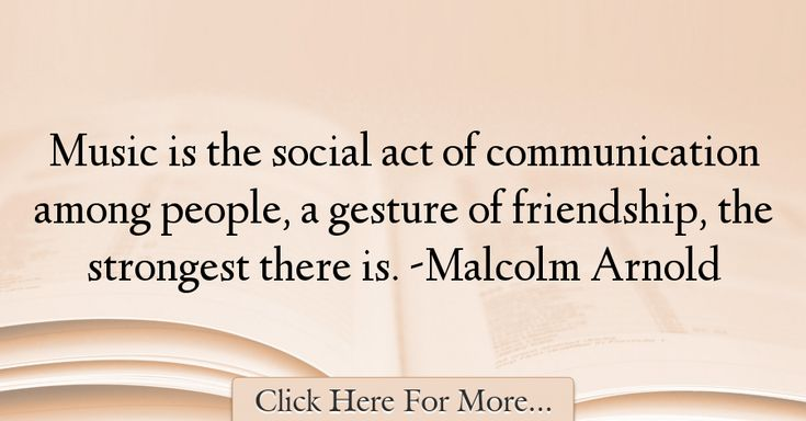Malcolm Arnold Quotes About Friendship - 25600