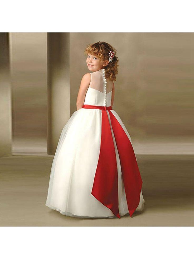 Ball Gown Bateau Neckline Flower Girl Dresses 5501056