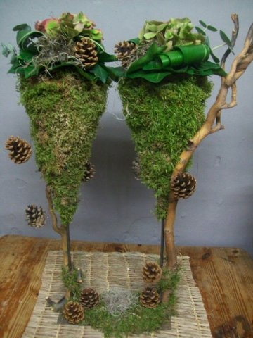 cônes en mousse support branche