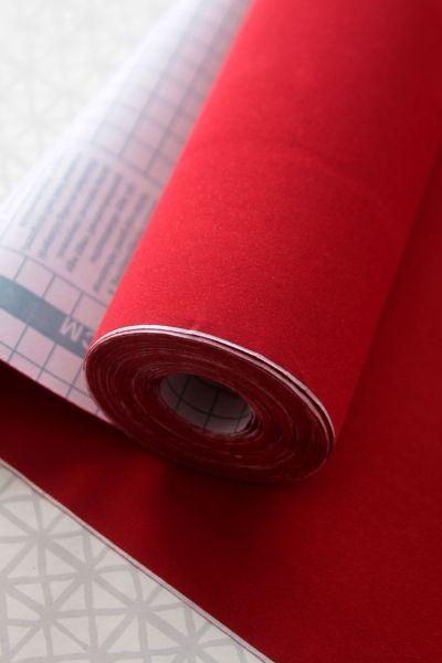 Självhäftande plast - Kontaktpapper - Röd SAMMET