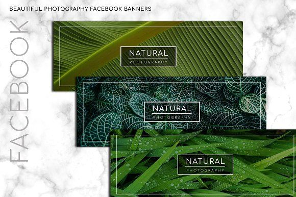 Natural Photography FB Banner by sandymanme on @creativemarket