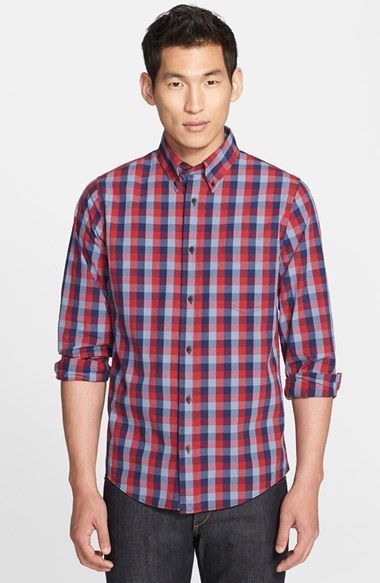 Jack Spade 'Bowen' Check Woven Shirt available at #Nordstrom