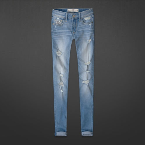 Hollister Ripped Jegging- Light Wash | Jeans and Shorts ...