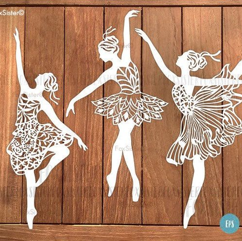 Svg template bundle! Svg/pdf Ballet dancers  three SVG designs in one! Cut files for hand and machine cutting. Cricut or cameo.