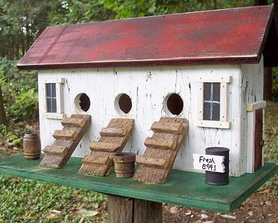such a cute birdhouse, especially for the babies!