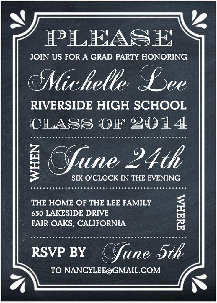 Best 25+ Graduation invitation wording ideas only on Pinterest ...