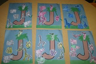 "This morning we started our study of the letter ""J"" and the color brown with a jungle theme. I was having a hard time trying to decide which animals actually live in the jungle. When I was searching for ideas both rainforest and African animals were shown. I chose to go with African jungle animals...Read More »"