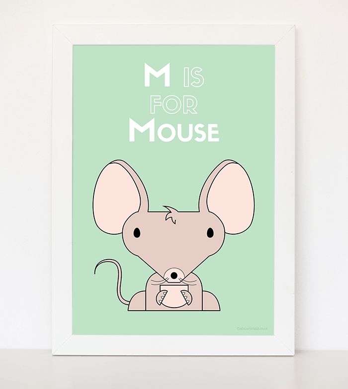 M is for Mouse  Customised prints and nursery decor Great newborn ideas