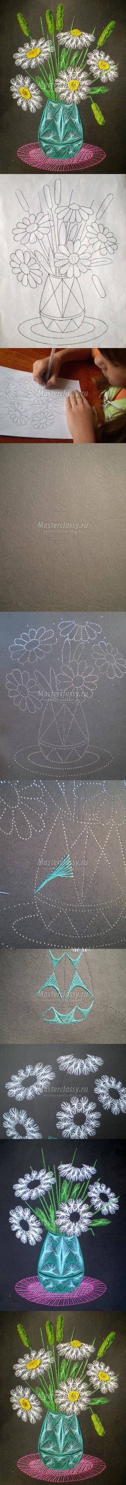DIY broderie sur carte                                                                                                                                                                                 Plus