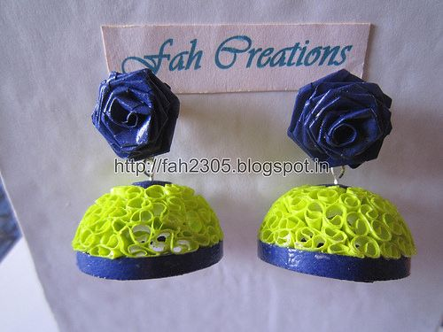 Free Form Quilling - Paper Quilling Jhumka (FAH196) (2)