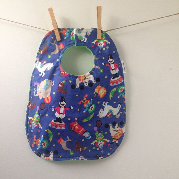 Circus Baby Gift  Oversize Baby Bib with Snaps by HipViolet