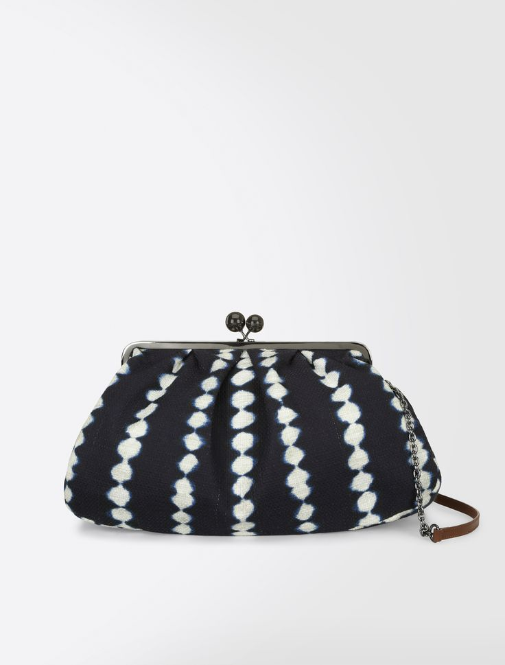 Maxi Pasticcino bag in shibori fabric, midnightblue - Weekend Max Mara