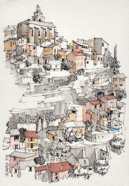 Jorge Royan_watercolor paintings_city-art__urban sketch_акварель_город