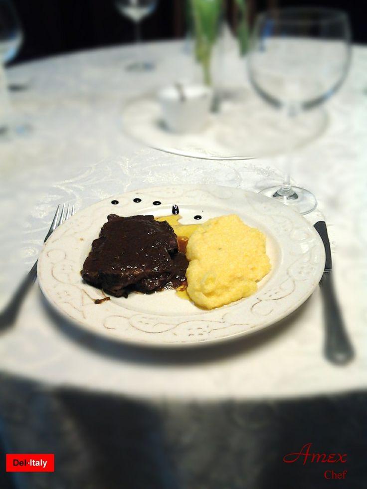 Brasato al Barolo con Polentina Tartufata. Chiedi la ricetta! zapytać o przepis! ask for the recipe! info@del-italy.com www.del-italy.com