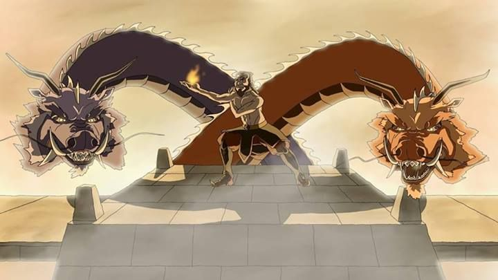 Iroh and the Dragons Ran and Shaw Avatar the Last