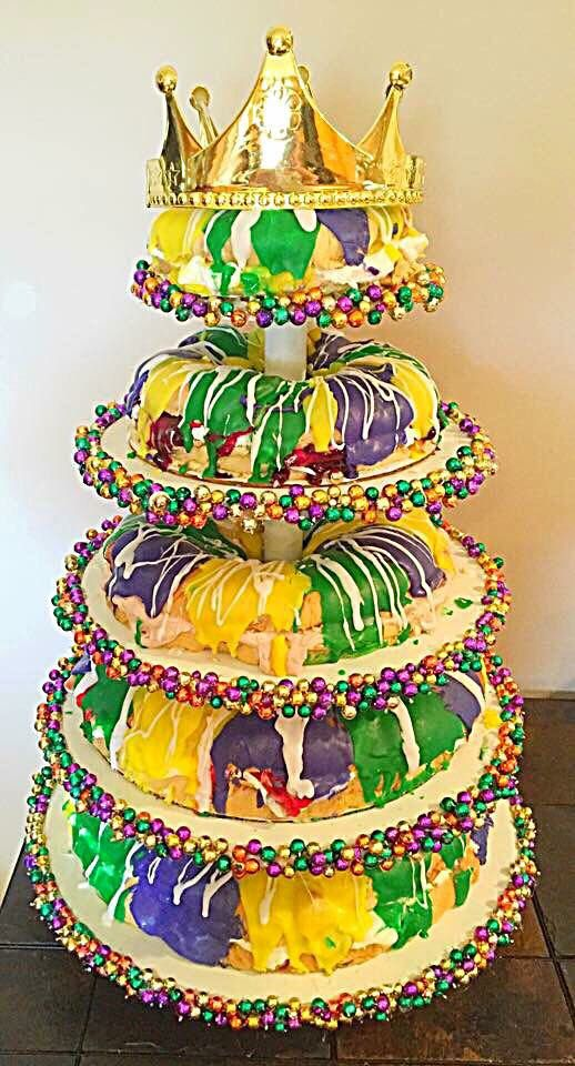 Mardi Gras King Cake Tower by Chesa Lefet