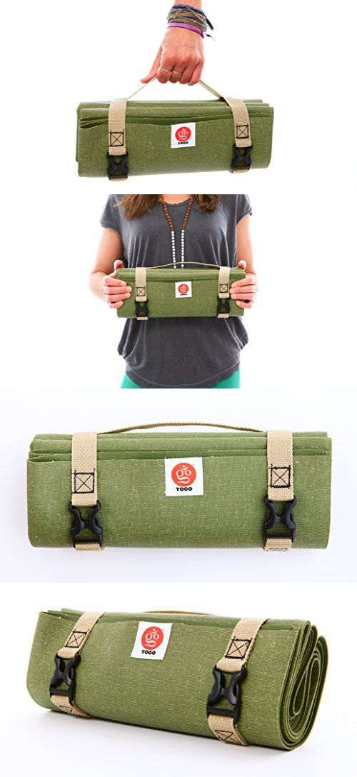 Ultralight Travel Yoga Mat by YOGO - Compact Folding Travel Yoga Mat, Eco-Friendly, for Travel