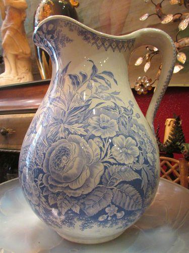 Ancien Grand Broc Pichet POT Faience Sarreguemines U C Jardiniere Epoque 19EME | eBay