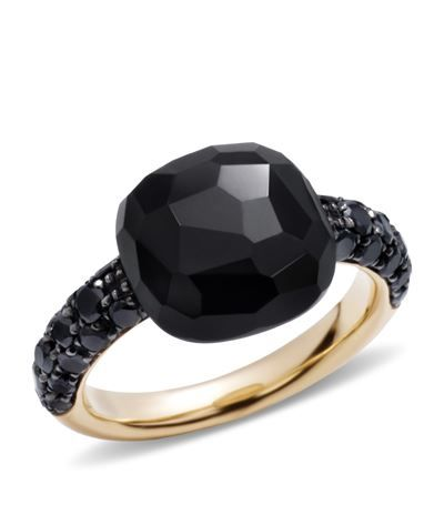 Shop Pomellato Onyx Rose Gold Capri Ring £2,060.00