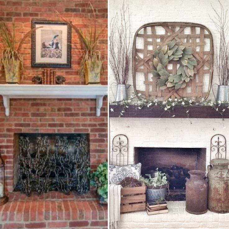 Before And After Painted Fireplace