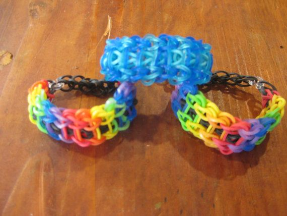 Rainbow Loom / Crazy Loom / Fun loom / handmade Jewelry / Rubberband Bracelets / Ladder Bracelet  https://www.etsy.com/listing/166316685/rainbow-loom-crazy-loom-fun-loom?ref=shop_home_active