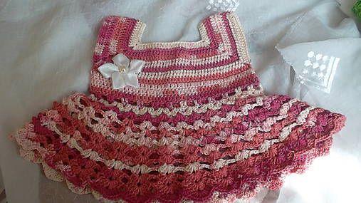 MelinetDecorCrochet / Dievčenské letné šaty