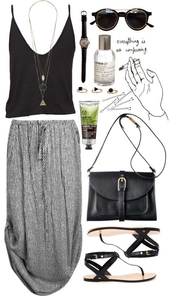 Don't like spaghetti straps but love the skirt