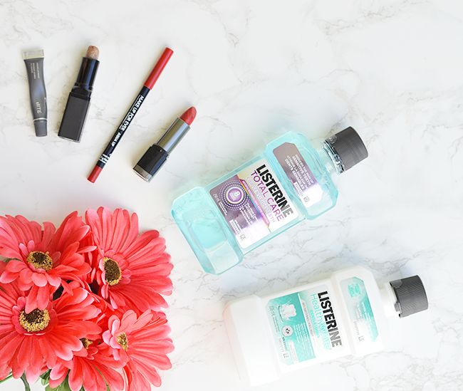 The perfect red lip for date night AND another date night must-have!   ad #LISTERINE   oliveandivyblog.com
