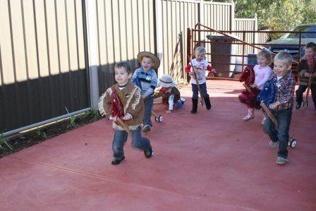 Cowboy Hobby Horse Race!